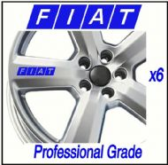 FIAT CAR WHEEL DECALS